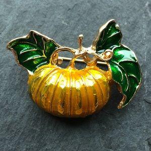 Gorgeous pumpkin brooch